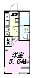 東京都八王子市絹ケ丘1丁目の賃貸アパートの間取り
