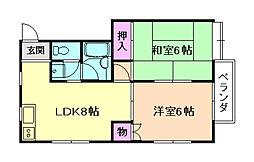 ストークハイツ桜塚[1階]の間取り