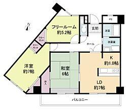 ルヴニール北野田 2階3DKの間取り