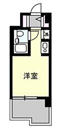 ユーコート洋光台 2階ワンルームの間取り
