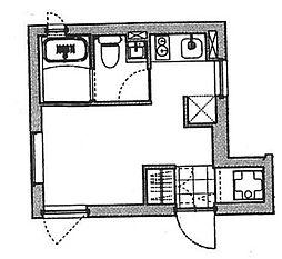 FARE中野7 1階ワンルームの間取り