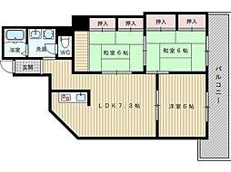 エバーグリーン淀川2号館[11階]の間取り