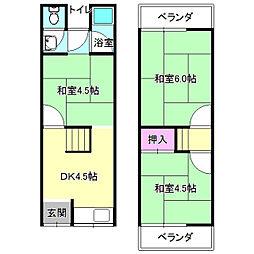 [テラスハウス] 大阪府枚方市小倉町 の賃貸【/】の間取り