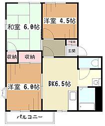 サンレイクコグレ[2階]の間取り