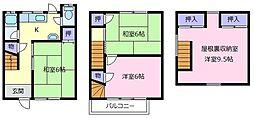 [テラスハウス] 大阪府松原市天美西1丁目 の賃貸【大阪府 / 松原市】の間取り