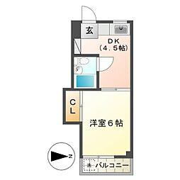 小島ハイツ1号[208号室]の間取り