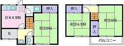 [一戸建] 大阪府松原市岡5丁目 の賃貸【/】の間取り