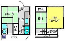 [一戸建] 神奈川県横浜市南区日枝町2丁目 の賃貸【/】の間取り