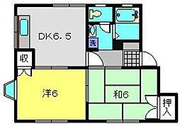 エミネンスB[102号室]の間取り