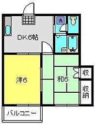 ドエル大倉山[105号室]の間取り