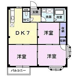 エルディムGAST HOUSE[1階]の間取り