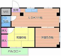 第五奥村マンション[5階]の間取り