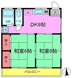 第5増田ハイツ[201号室]の間取り