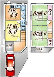 [一戸建] 兵庫県神戸市長田区五位ノ池町4丁目 の賃貸【/】の間取り