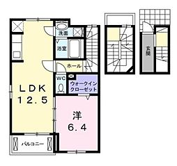 フォレスト サイド 3階1LDKの間取り