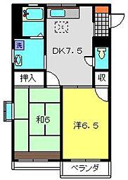 TKハイツI[102号室]の間取り