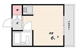 キャンパスOZ[2階]の間取り