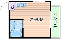 大阪府吹田市円山町の賃貸マンションの間取り