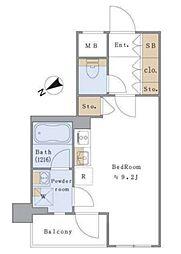 東京メトロ丸ノ内線 茗荷谷駅 徒歩5分の賃貸マンション 2階ワンルームの間取り
