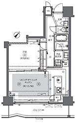 JR総武本線 馬喰町駅 徒歩2分の賃貸マンション 2階1LDKの間取り