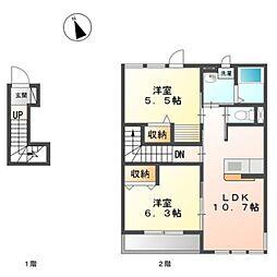 原宿4丁目アパートII期新築工事[201号室]の間取り