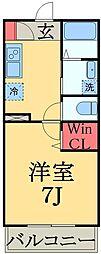 JR総武線 幕張本郷駅 徒歩7分の賃貸アパート 1階1Kの間取り