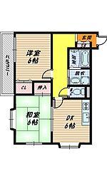 大阪府大阪市鶴見区浜3丁目の賃貸マンションの間取り