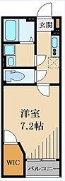 東武越生線 武州長瀬駅 徒歩8分の賃貸アパート 2階1Kの間取り