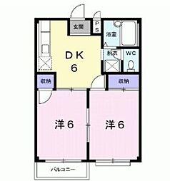 埼玉県八潮市緑町3丁目の賃貸アパートの間取り