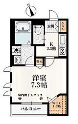 東京メトロ有楽町線 小竹向原駅 徒歩2分の賃貸マンション 1階1Kの間取り