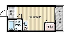 グローリィ岡村[3階]の間取り