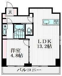 東急大井町線 旗の台駅 徒歩1分の賃貸マンション 1階1LDKの間取り