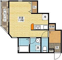 長崎県長崎市小瀬戸町の賃貸アパートの間取り
