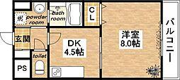 カシータミヤ[305号室]の間取り