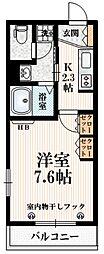 JR山手線 代々木駅 徒歩4分の賃貸マンション 1階1Kの間取り
