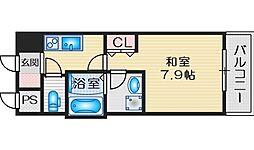BPRレジデンス江坂 10階1Kの間取り