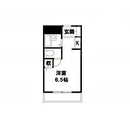 アミケンハイツ5階Fの間取り画像