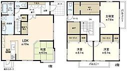 [一戸建] 福岡県福岡市東区青葉2丁目 の賃貸【/】の間取り