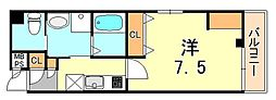 エヌエムスワサントシス 4階1Kの間取り