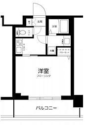 シティタワー武蔵小山 レジデンス棟 9階1Kの間取り