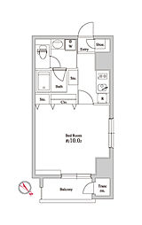オリーブマンション荒川[6階]の間取り