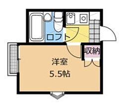 神奈川県相模原市南区相武台1丁目の賃貸アパートの間取り