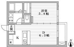 ATRIUM・T[203号室]の間取り