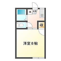 愛知県岡崎市赤渋町字下河原の賃貸アパートの間取り