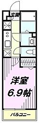 JR南武線 西国立駅 徒歩13分の賃貸アパート 1階1Kの間取り