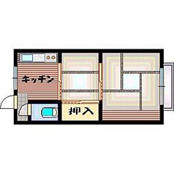 大阪府大阪市平野区加美鞍作1丁目の賃貸マンションの間取り