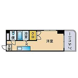 サンクレール祇園[505号室]の間取り