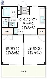 Newハイツ・Kimura[101号室]の間取り