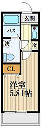 JR中央線 西荻窪駅 徒歩7分の賃貸アパート 1階1Kの間取り