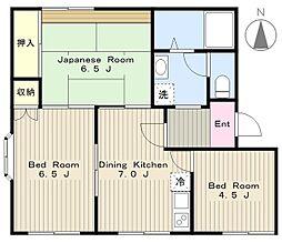 神奈川県大和市深見東3丁目の賃貸アパートの間取り